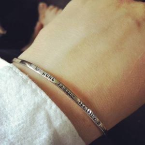personalised bangle