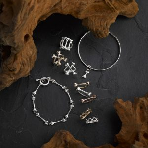 Triple Bones, Yellow Gold/ Silver Crossbones, Yellow Gold/ Silver/ Rose Gold Lonely Bone , Yellow Gold/ Silver Crypt, Little Bones & Bangle