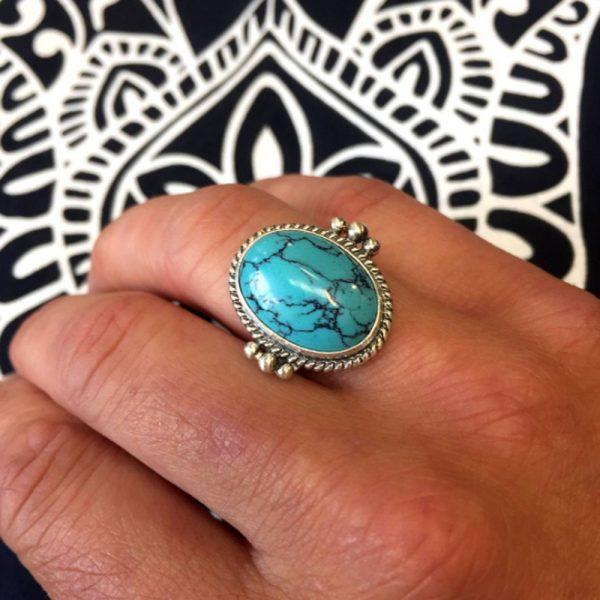 oversized turquoise