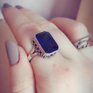blue octagon