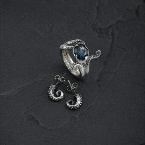 tentacle studs & tentacle ring