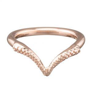 tentacle wishbone rose gold