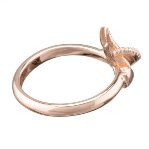 claw and tentacle ring rose gold