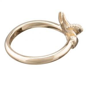 claw and tentacle ring yellow gold