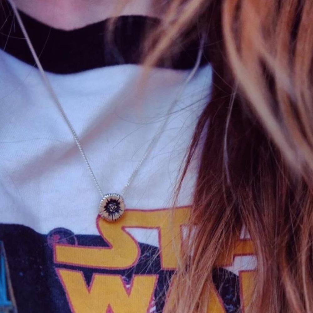 sunflower pendant