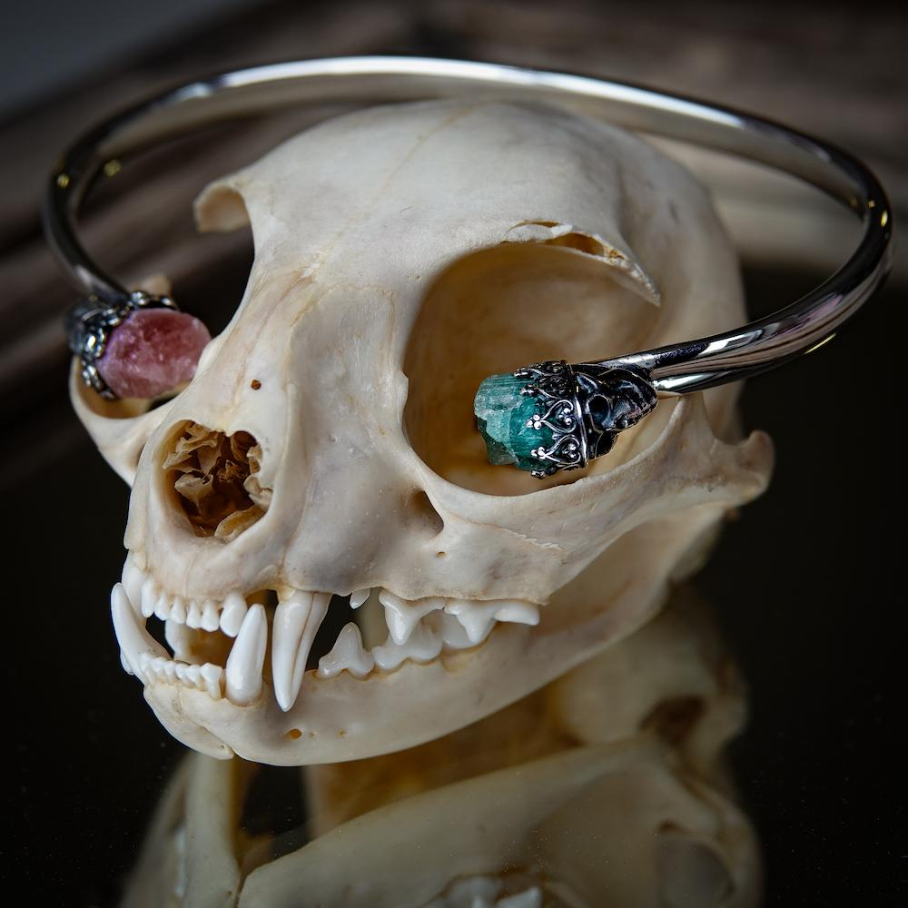 Skull Torque Bangle