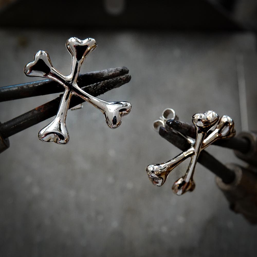crossbone earrings