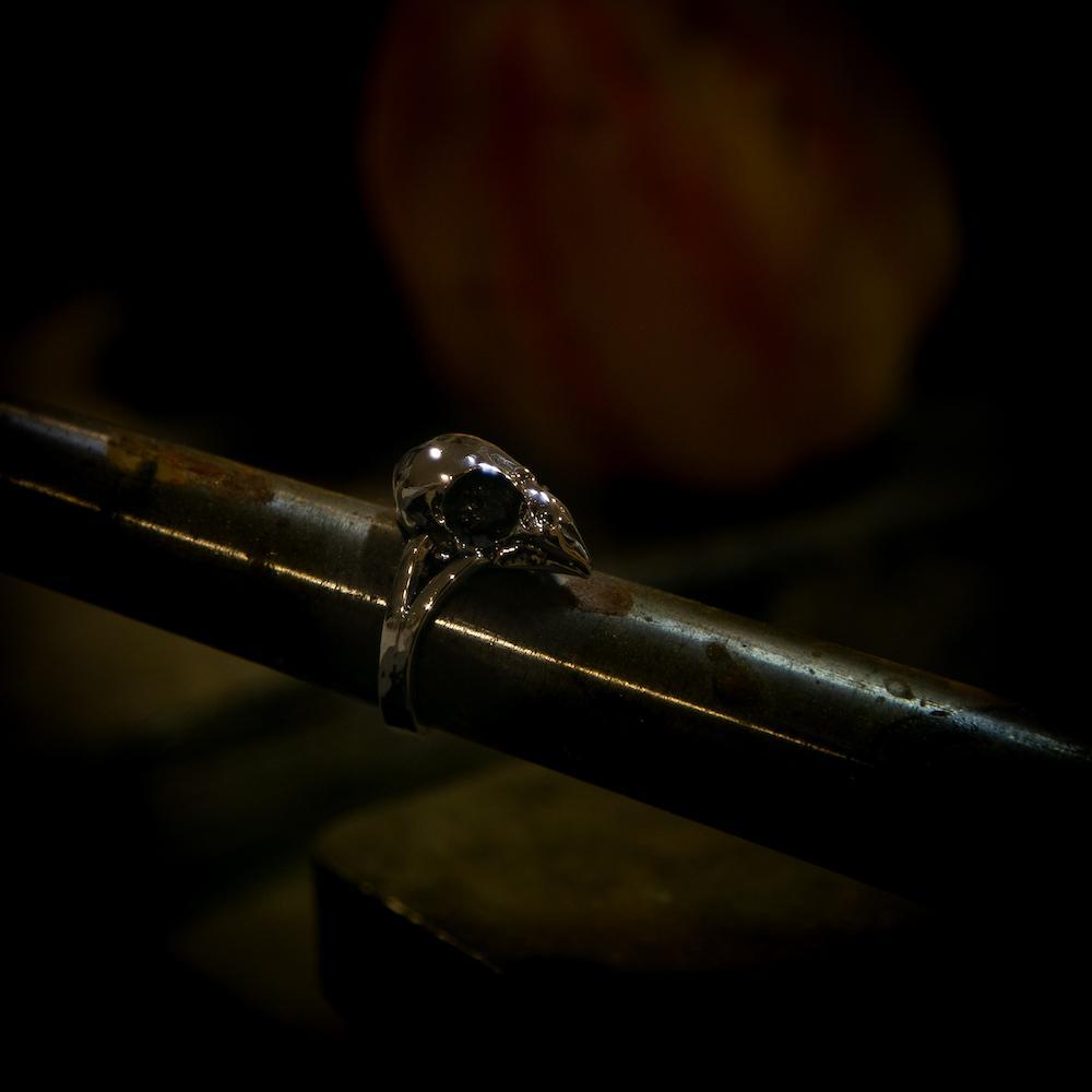 Finch Skull Ring